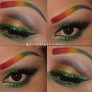 Rainbow eyebrows! Fun St. Patty's Day theme