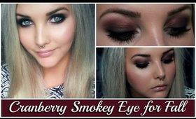 Cranberry/Burgundy Smokey Eyes for Fall/Autumn