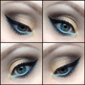 A close-up of an eye makeup look I wore a little while ago! :)