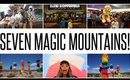 ROADTRIP DAY 7 & 8: SEVEN MAGIC MOUNTAINS IN LAS VEGAS | WANDERLUSTYLE VLOG