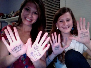 Love is louder than the pressure to be perfect <3