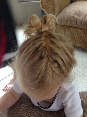I did this on my 2 year old nice!