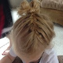 French Braid into a bow