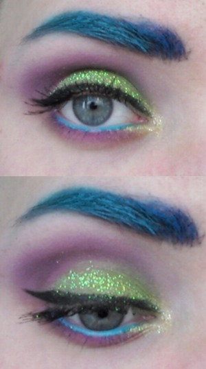 """The glitter that was used is called """"Fresh Lime"""" by TND cosmetics."""