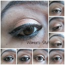 Shimmery Peach Eye Makeup
