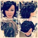 pin curls vintage hairstyle