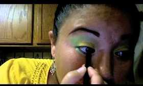 Cilantro Julep inspired Makeup