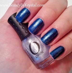 Orly Witch's Blue with Orly Etoile on top