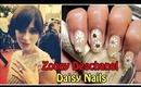 Zooey Deschanel Daisy Nails Golden Globe 2014 | Nailart tutorial