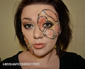 Inspired by the Red Corn Snake  I think I concealled my eyebrow quite nicely :)