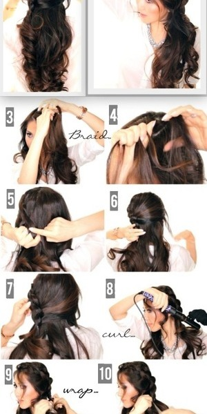 Hair tutorial video.  learn how to do this hairstyle on your own hair here.   http://www.makeupwearables.com/2014/03/second-day-hairstyles-half-updo-tutorial.html