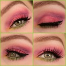 Colorfull spring look collage
