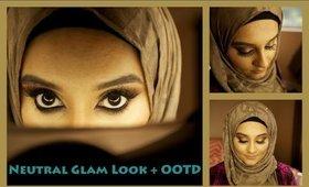 Neutral Glam Makeup Look + OOTD