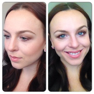 """Naked 3 palette - Dust/Factory Bronzer in the crease ELF Studio blush in """"Twinkle Pink"""""""
