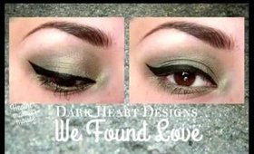Dark Heart Designs Peacock-y collection mineral shadows eye swatches