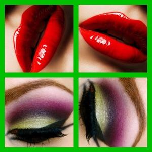Eye nyx primer ,Mac bitter ,mac fig ,Mac cranberry ,Mac gesso Mac red ,Mac cherry lipliner ,Mac clear gloss Mac false lash #4 Mac boot black liquid liner