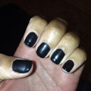 Black matte nail with shiny tip