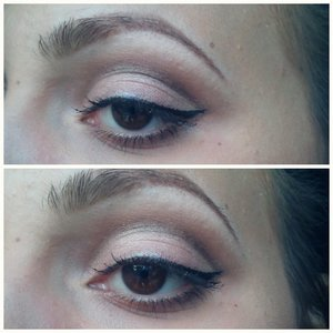 I used a eye pencil in Grey to draw a line in my crease. i blended it out with a brush. i added a Light brown Color a bove it