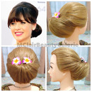 Zoey Deschanel Inspired Hair Chignon Updo