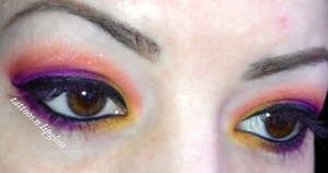 Colorful look with Sugarpill