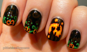 This was part of a Halloween challenge with the theme Jack O Lanterns!