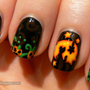 Halloween nail art - Jack O Lantern nails