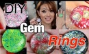 DIY Hello Kitty Gem Rings