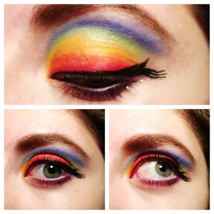 rainbow with a twist to the average winged liner