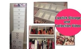My Entire Lipstick Collection and Storage