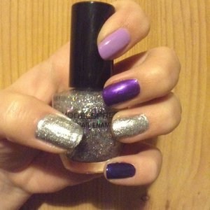Purple ombre with sparkle