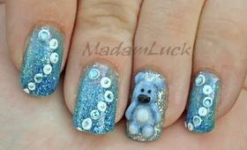 Nail Art - How To-Sculpt a cute bear using Acrylic