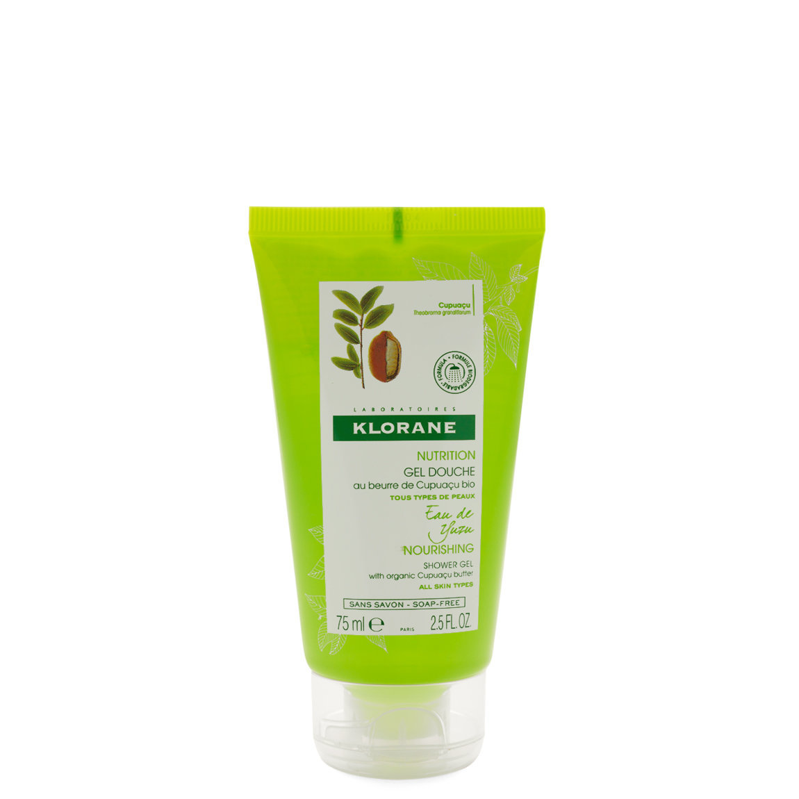 Klorane Yuzu Infusion Shower Gel with Cupuaçu Butter 2.5 fl oz alternative view 1 - product swatch.