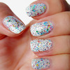 """Wedding Day Glitters"" Nail Art"
