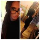 Last night hair & makeup choice! excuse my dirty mirror :')