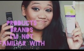 Beauty Haul   Products or Brands  I'm Not Familar With