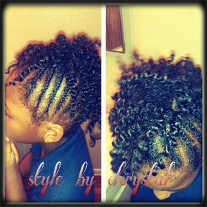 2 strand twists and twist out