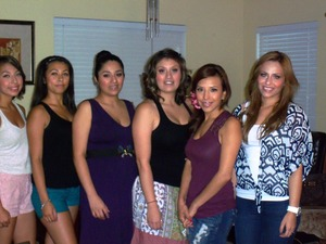 All the girls at the mark party!