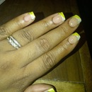Two toned Yellow and Silver glitter