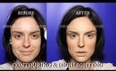 How I Contour & Highlight With Cream Foundation (Inspired Kim Kardashian Contour and Highlight)