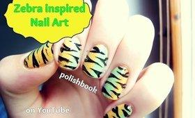 Zebra Inspired Nail Art! ♡