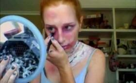 zombie attack makeup tutorial