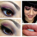 Purple and Brown with Double Winged Eyeliner