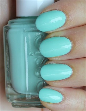 See more swatches & my review here: http://www.swatchandlearn.com/essie-mint-candy-apple-swatches-review