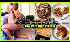 WHAT I EAT IN A DAY | LOW CARB HIGH PROTEIN | Teriyaki Salmon and Rice