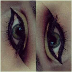 My first time doin my eyeliner like this succesfully! practice makes perfect ladies. :3