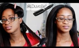 Duvolle Thermal Styling Brush Review On Thick Relaxed Hair