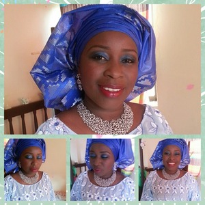 Makeup for her child dedication...makeup and headgear by Emel makeover