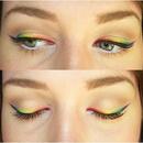 Rainbow Eyeliner ! :)