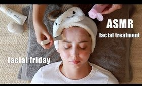 relaxing asmr facial treatment facial friday  | Serein Wu