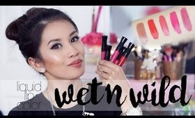 Wet N' Wild Megalast Liquid Lips Color | Swatch & Review